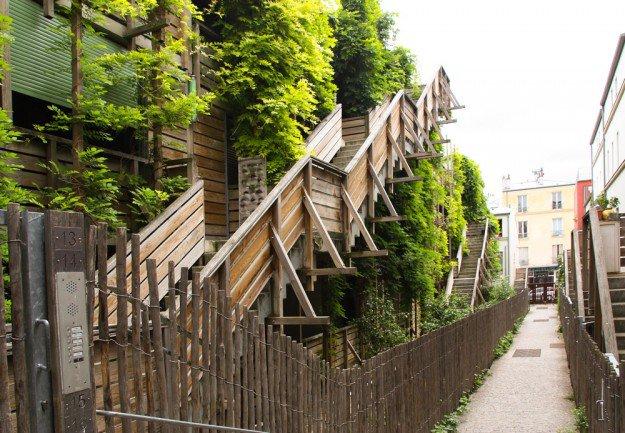 Les immeubles parisiens les plus insolites for Jardin 122 rue des poissonniers